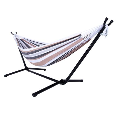 Hammock Bed Stand Multicolors Outdoor Swing Chair Hammock With Steel