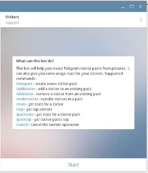 cara membuat bot di telegram tutorial cara mudah membuat sticker pack di telegram