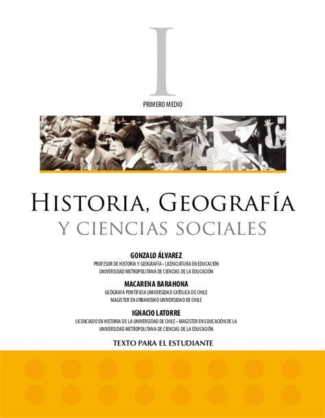 libro ciencias sociales 2016 libro de historia primero medio
