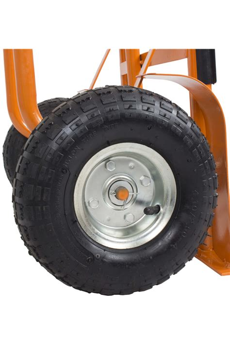 rubber st wheel 300kg heavy duty steel sack truck trolley with rubber