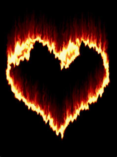 fire heart mobile wallpaper mobile toones