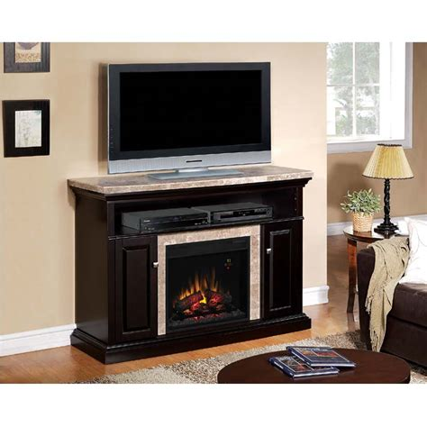 Marble Top Electric Fireplace by Classic Brighton Media Mantel With Electric