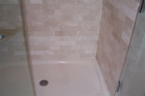 Replace Fiberglass Shower With Tile by How To Install Shower Pan Pan For A Design Of Installing