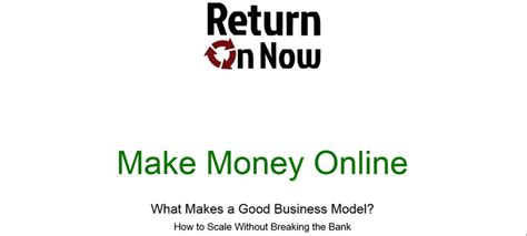Making Money Online Business - best business models for making money online return on now