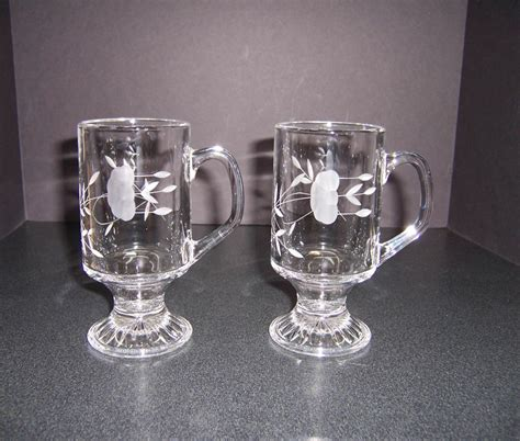 Triple A Resale 2 Princess House Glass Irish Coffee Mugs