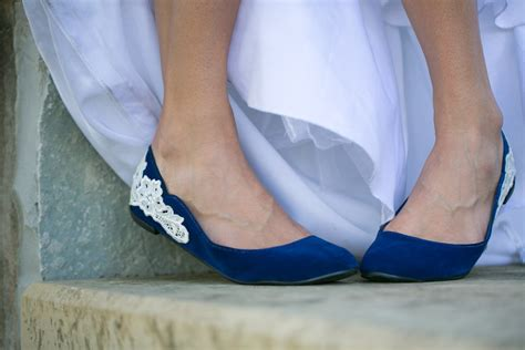 wedding shoes flats blue blue wedding flats wedding shoes with ivory lace design us