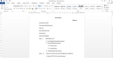 cara membuat daftar isi otomatis menggunakan tab cara mudah membuat daftar isi di microsoft word