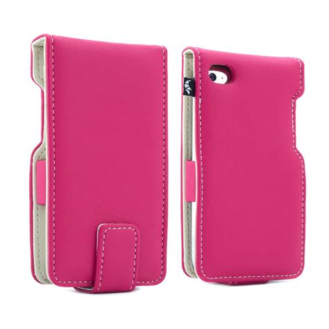 ipod touch  flip case leather style pink proporta
