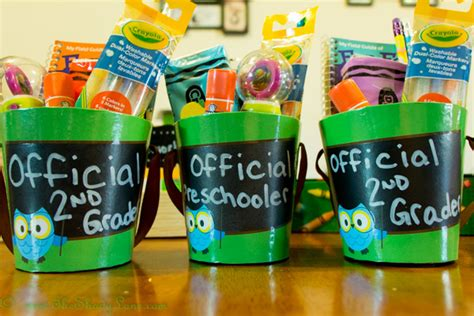 list of gifts to school children back to school gift buckets hugs and blanket forts