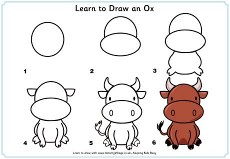 how do you draw a new year learn to draw an ox