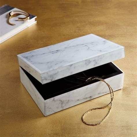 Decoupage Boxes For Sale - marble decoupage box west elm