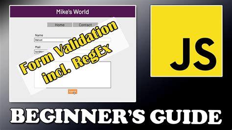 javascript tutorial youtube javascript tutorial form validation part 3 youtube