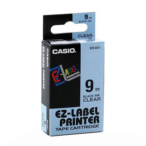 Label Casio 9mm Segera Order genuine casio 9mm label xr 9x1 black on clear