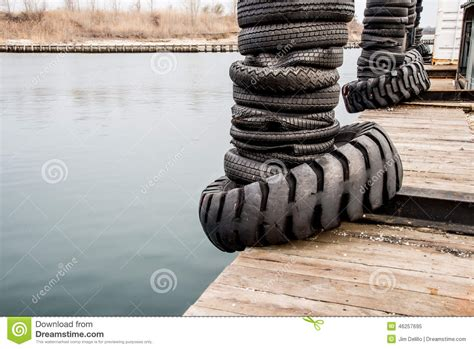 boat dock bumpers canadian tire tire bumpers on a boat dock stock photo image 46257695