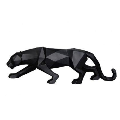 geometric jaguar tattoo decorative geometric figure panther black resin