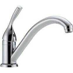 delta classic single handle standard kitchen faucet in chrome 101 dst the home depot