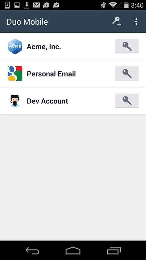 login services apk duo mobile screenshot