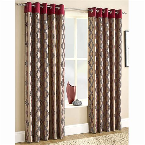 Ceiling To Floor Curtains by Faux Silk Lined Eyelet Curtains Red