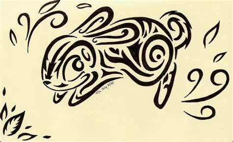 tribal rabbit art