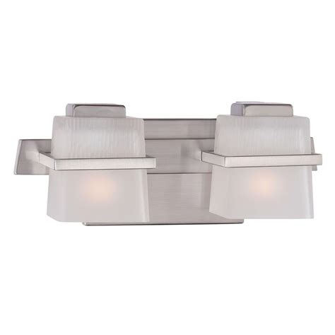 hton bay 2 light brushed nickel bath light 05380 the home depot hton bay harlin 2 light brushed nickel vanity light 15302 the home depot