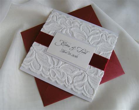 Wedding Invita by Wedding Invitation Lace Wedding Invitation White Lace