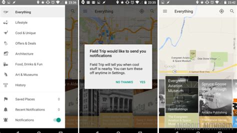 android design guidelines notifications field trip app for android updated with material design