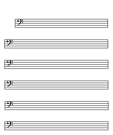 Blank Sheet Bass Clef by Bass Gif Images