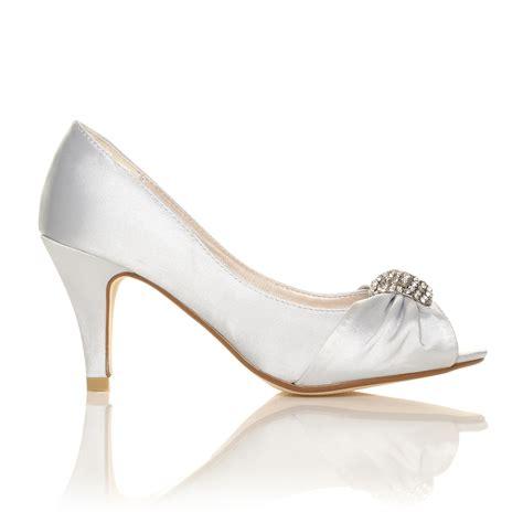 white low heel sandals ivory white satin low heel bridal prom