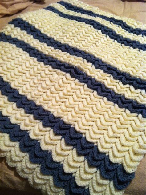 Crocodile Stitch Crochet Blanket by Free Crochet Crocodile Baby Blanket Pattern Dancox For