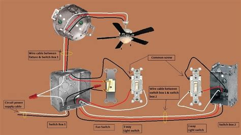 diagram for 3 way ceiling fan light switch electrical