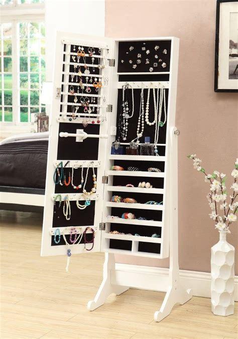 white mirrored jewelry cabinet amazon com white mirrored jewelry cabinet armoire w
