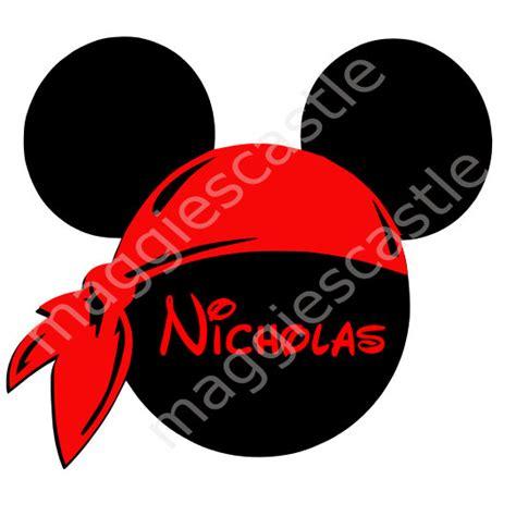 Bando Mickey Berenda Bandana Mickey digital file mickey with bandana and personalized