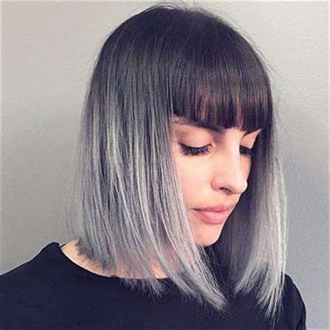 blunt end bob with subtle layers top ombre hair colors for bob hairstyles popular haircuts