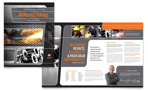 Manufacturing Engineering Brochure Template   Word & Publisher