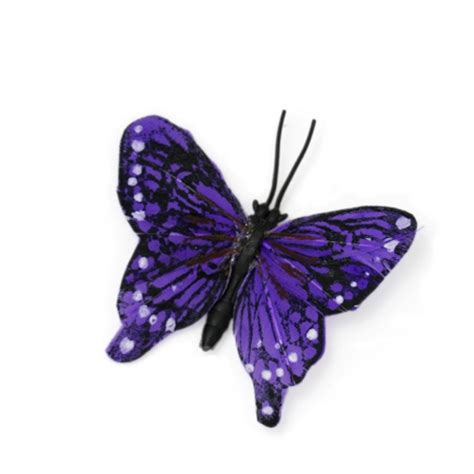 small purple butterfly accent red hat society store