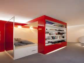 Red ideas for room iders in studio apartment