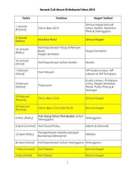 Senarai Oven Di Malaysia senarai cuti umum di malaysia tahun 2015