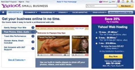 yahoo small business templates the best small business web hosting