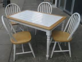 Tile Top Kitchen Table Sets Uhuru Furniture Collectibles Sold Tile Top Table And