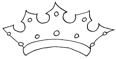 tiara template printable free crown outline template cliparts co