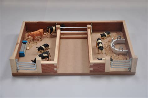 Set Catte model cattle pen and handling facilities wooden