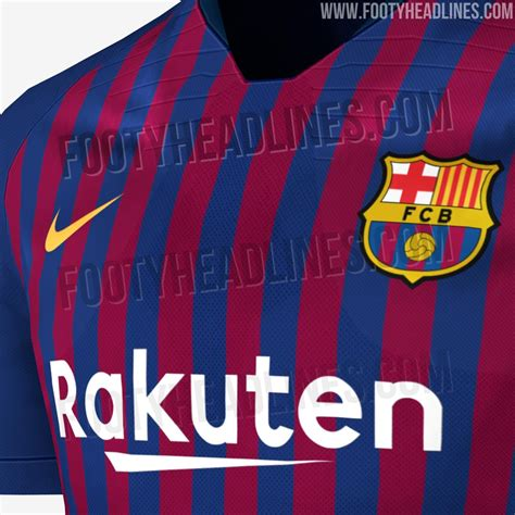 Tshirt Barcelona New Barca 19 exclusive fc barcelona 18 19 home kit leaked release date revealed footy headlines