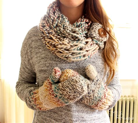 knitting pattern chunky yarn mittens chunky mittens pattern one skein project simplymaggie com
