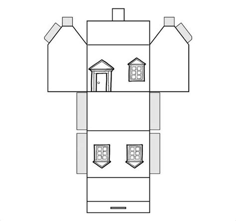 house template paper house template pictures to pin on pinsdaddy