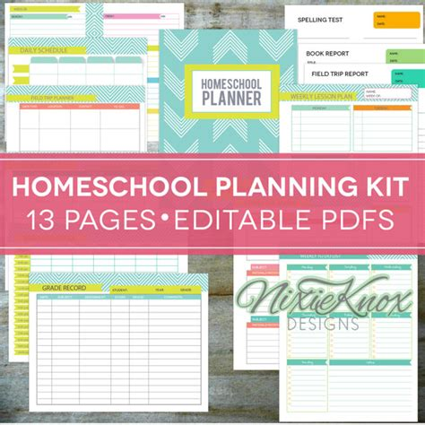 homeschool lesson planner book homeschool planner editable printables floral by