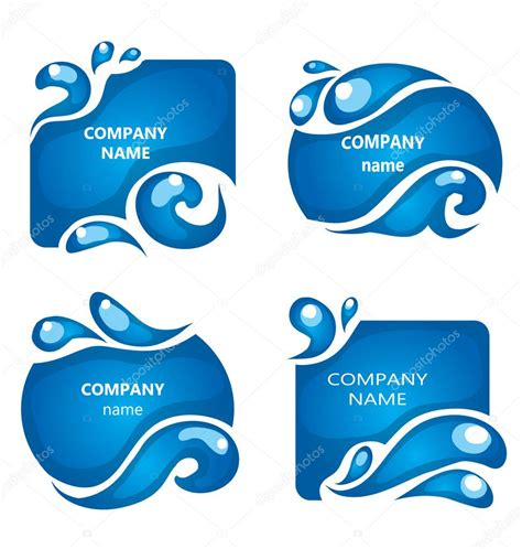 water label design vector water labels company name design elements water icon