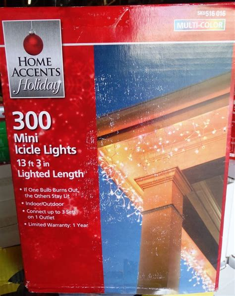 300 light clear mini icicle light set ebay