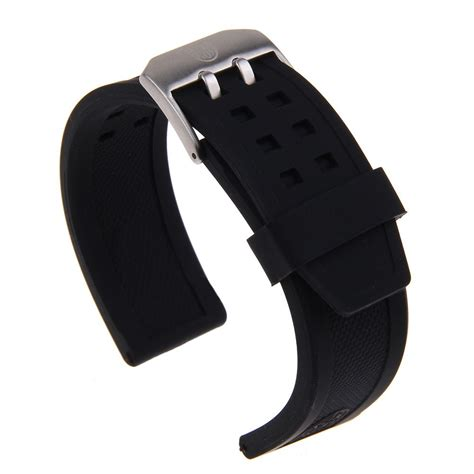 comfortable watch band silicone rubber watch band strap bracelet for luminox