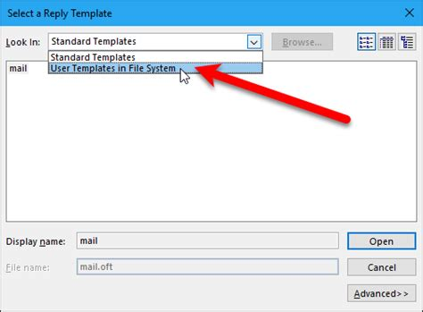 User Templates In File System how to set up an out of office reply in outlook for windows