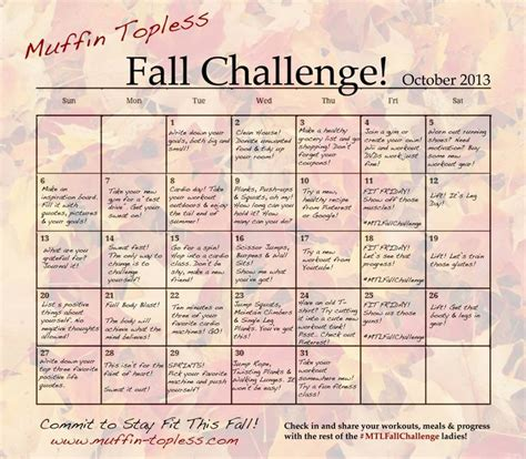 workplace health challenges fall wellness challenge muffin workplace